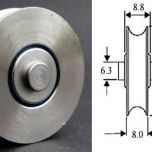 Stainless Steel Fixed Axle Wheel - 32mm