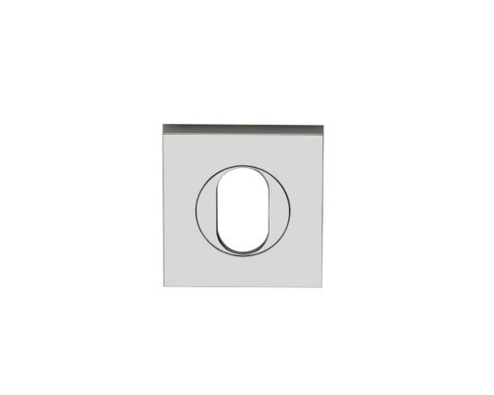 Square oval cylinder escutcheon
