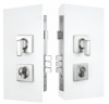 Mini Lever Set - Square Escutcheon 60mm B/Set