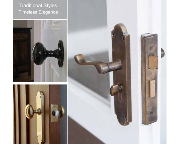 Windsor traditional door furniture
