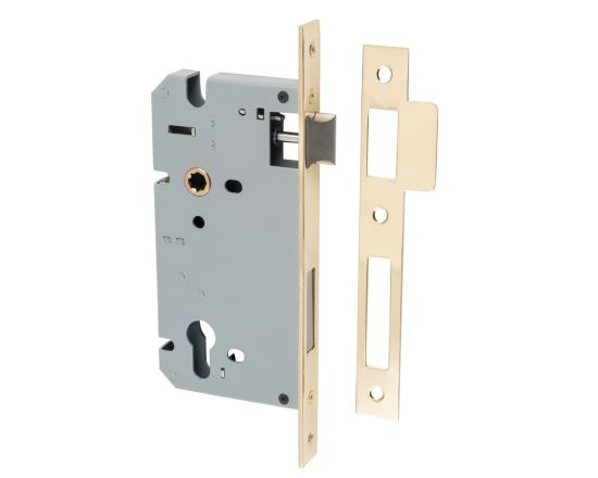 Tradco Euro 85 mortice lock 60mm backset - PB